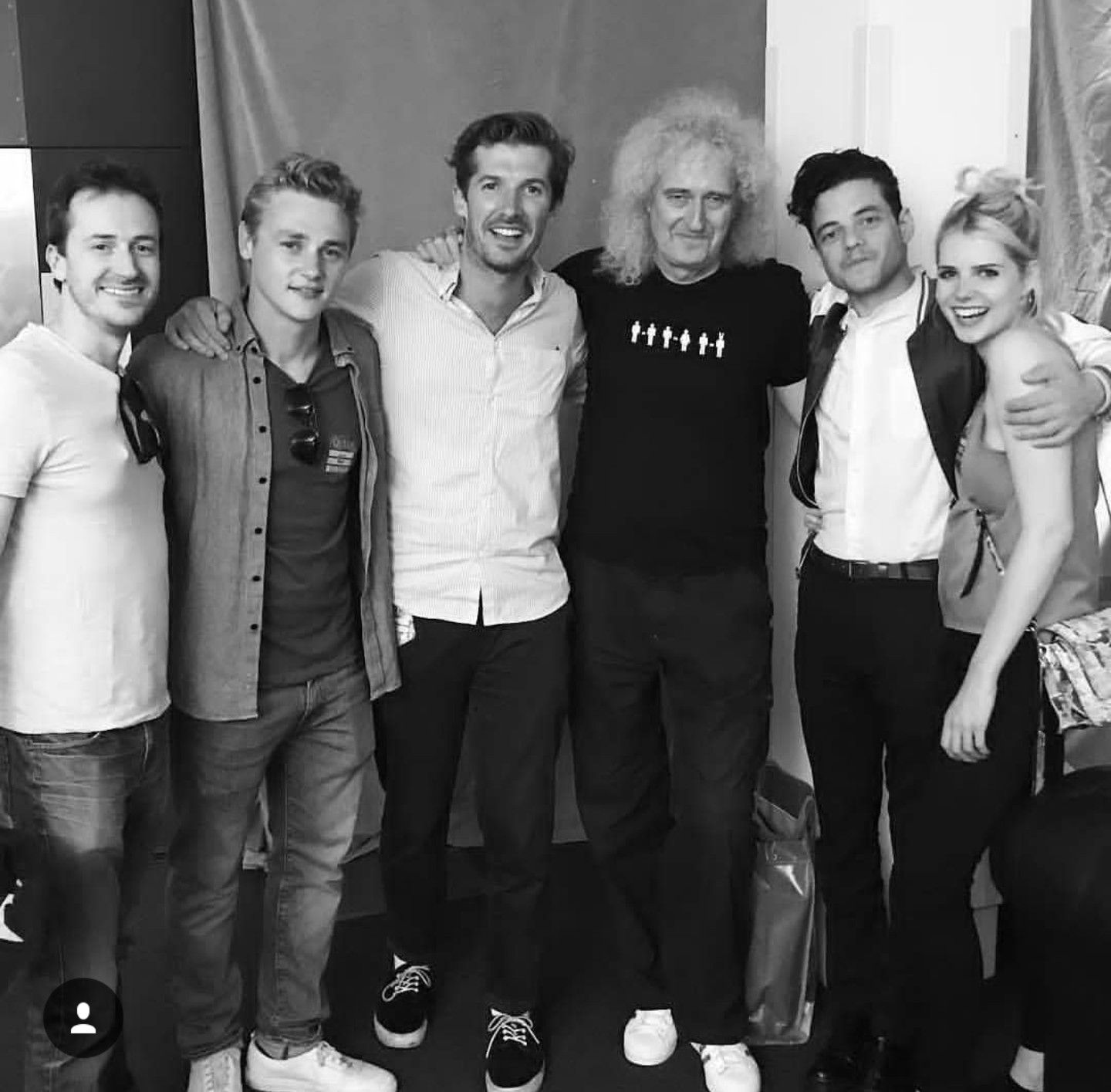 Brian with the cast of the upcoming biopic about Queen ...