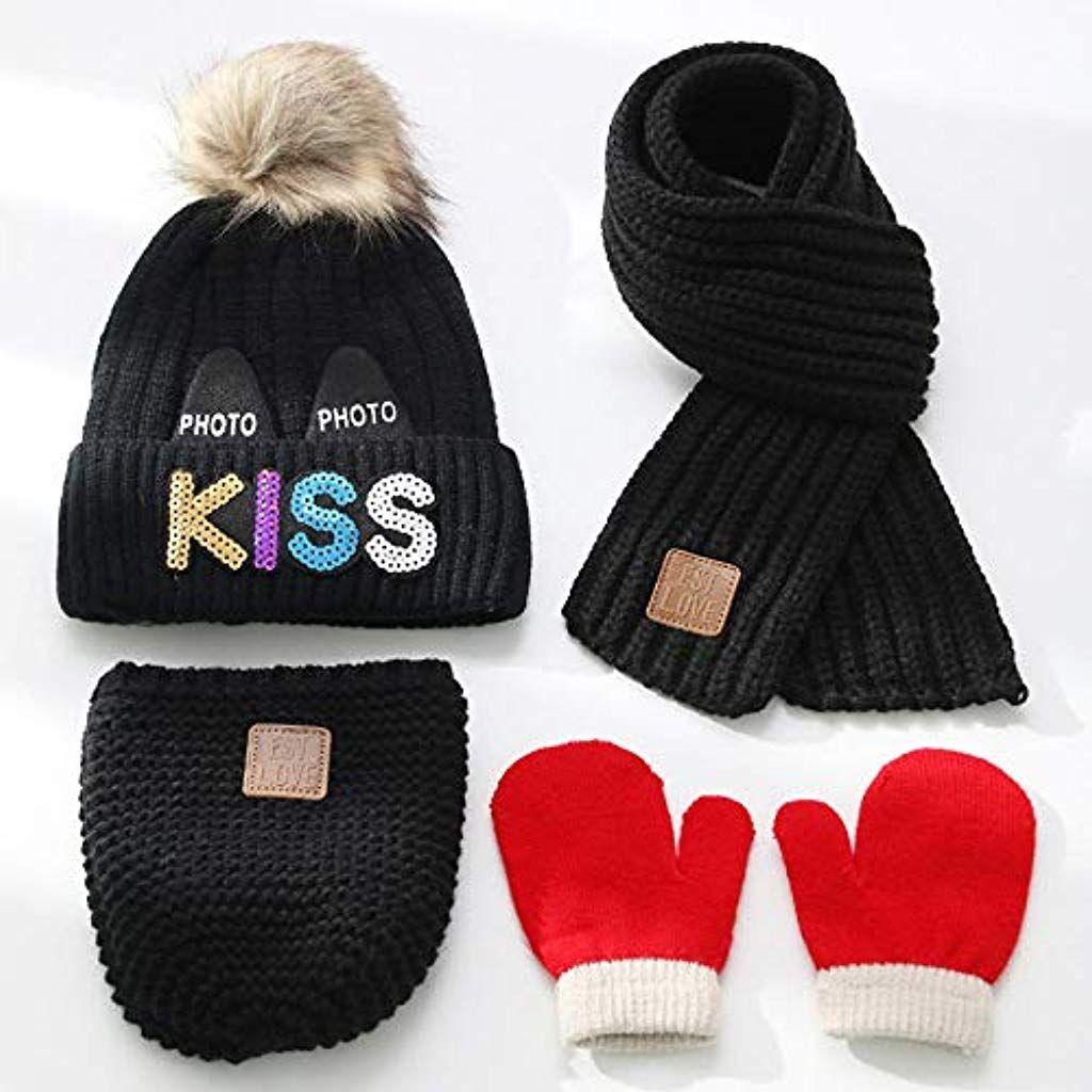Chaud Tricot Crochet Kids Infant Baby Beanie Cap Ski Casquettes Pour Enfants Garçons Filles