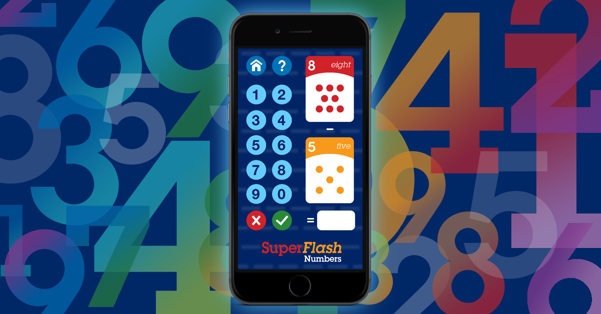 Boost your math skills with SuperFlash Numbers! A colorful