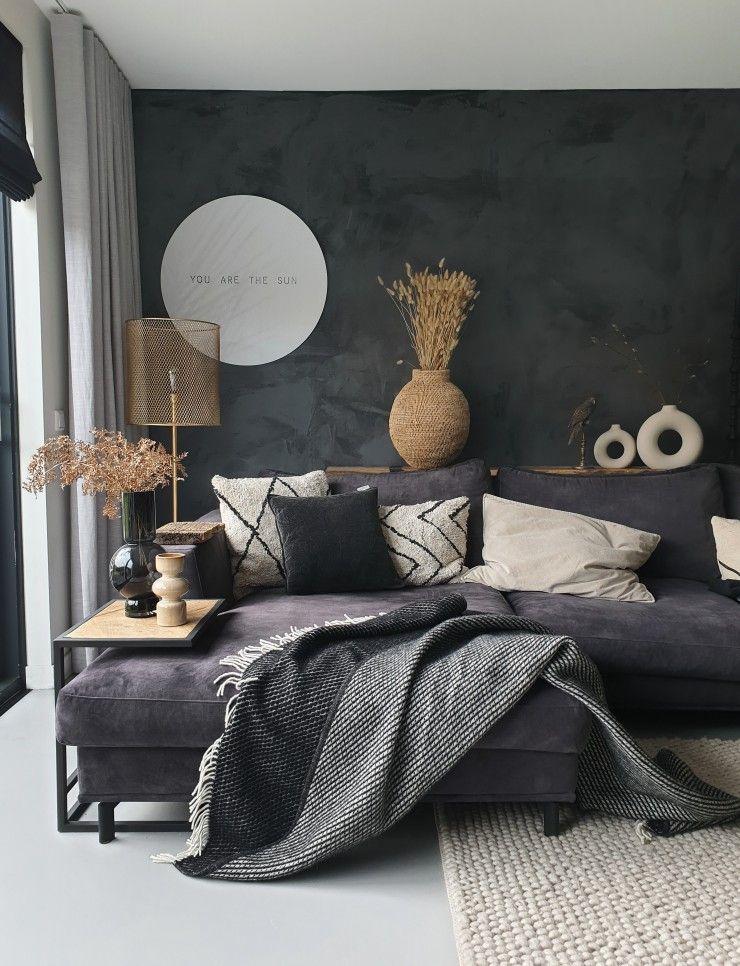 Donkere kleuren in je interieur als basis