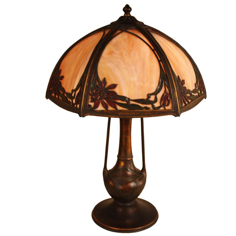 American Art Nouveau Table Lamp | Modern, Modern table lamps and ...:American Art Nouveau Table Lamp | From a unique collection of antique and  modern table lamps,Lighting