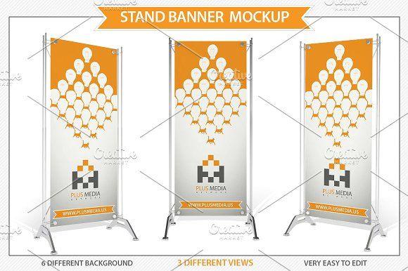 Download Stand Banner Mockup Banner Design Presentation Design Card Design