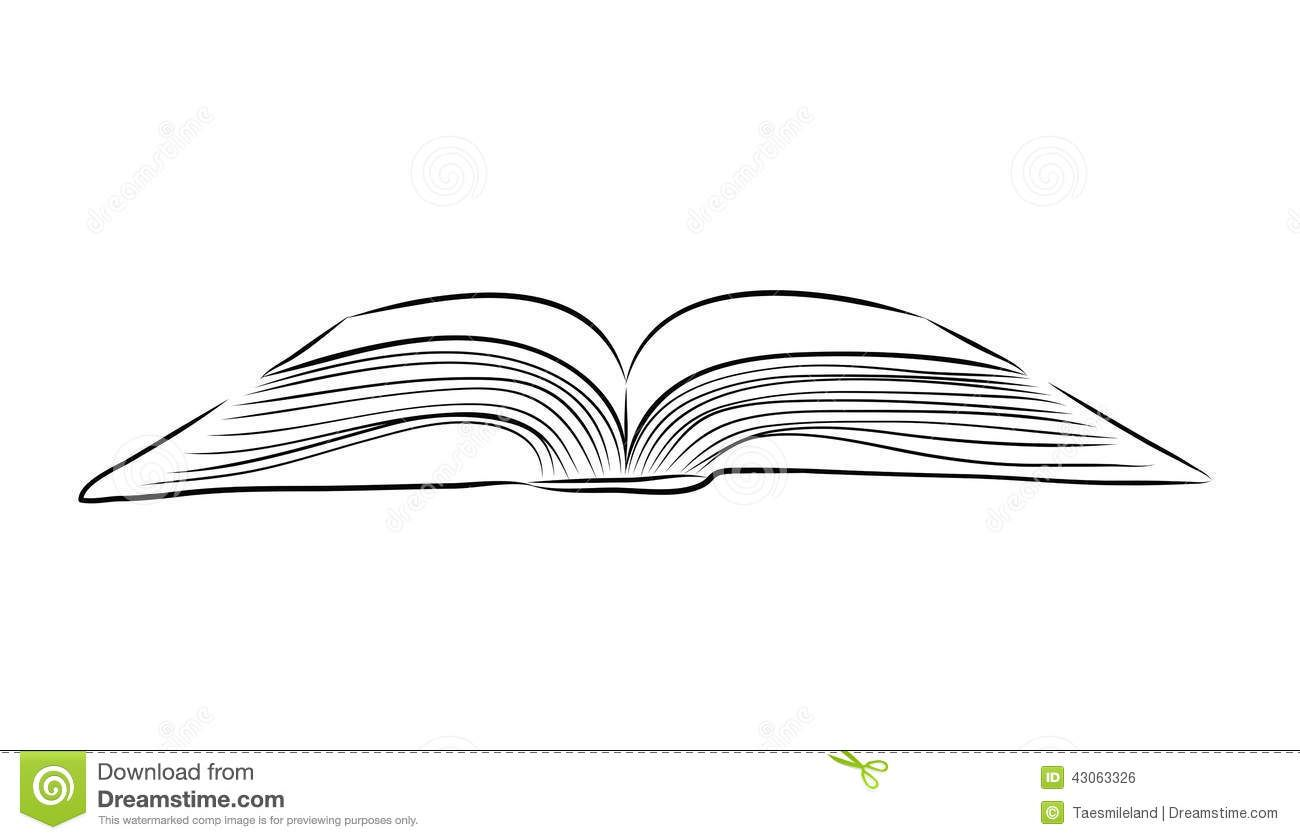 Open Book Drawing Book Drawing Open Book Tattoo