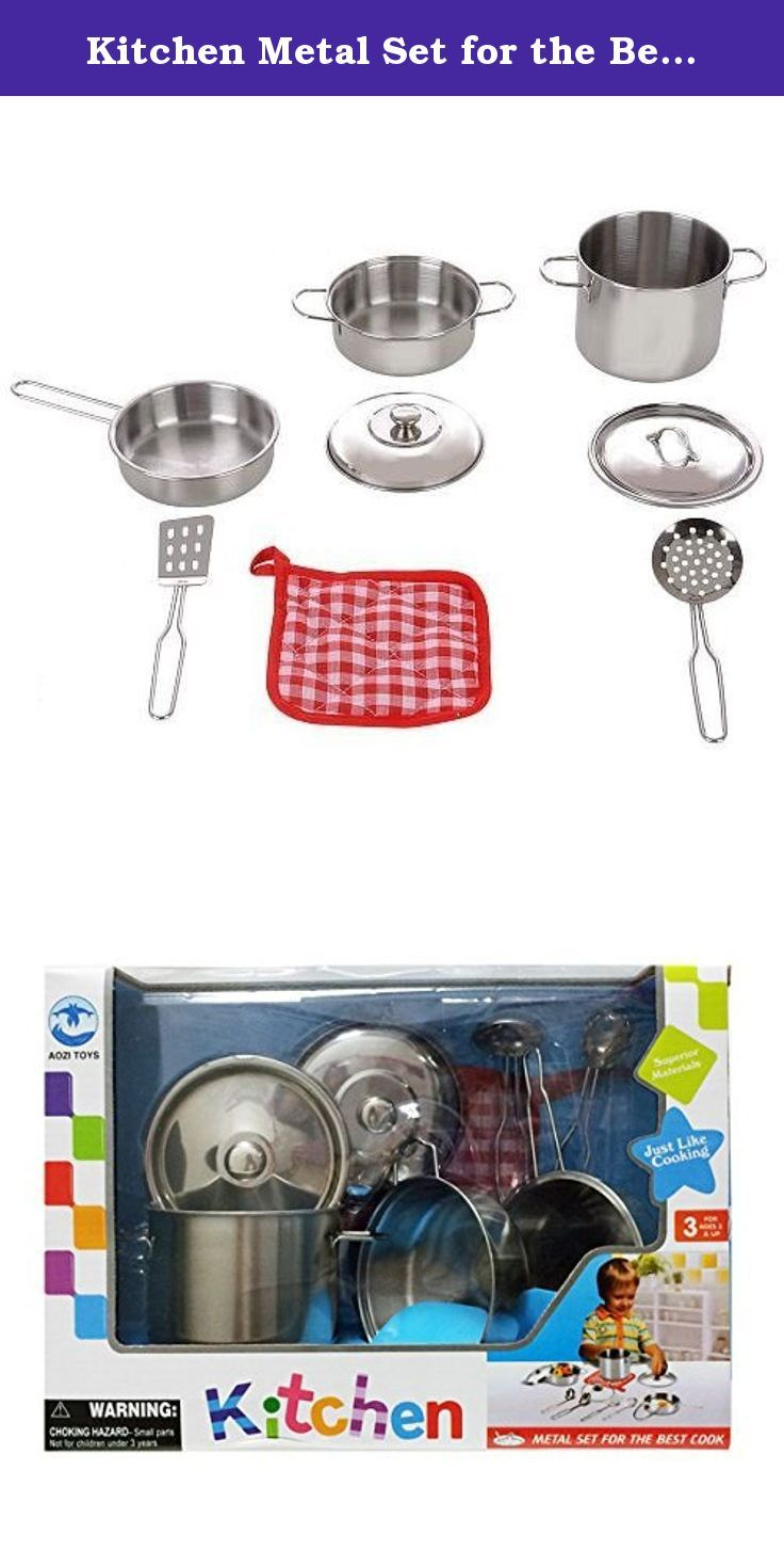 Kitchen Metal Set For The Best Cook Total 8 Pcs Simulating A
