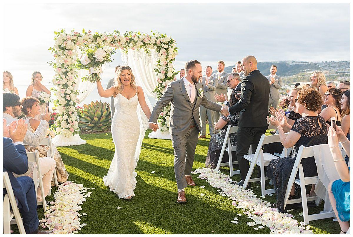 Romantic Blush & Cream Beachfront Wedding at the Ritz Carlton, Laguna Niguel | poshpeony.com