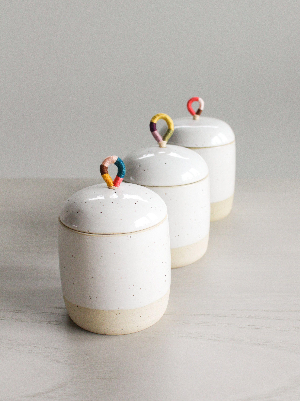 Ceramic Jar Container With Lid Handmade Clay Jewelry Etsy Handgefertigte Keramik Keramik Topferei Designs Ceramic jar with lid