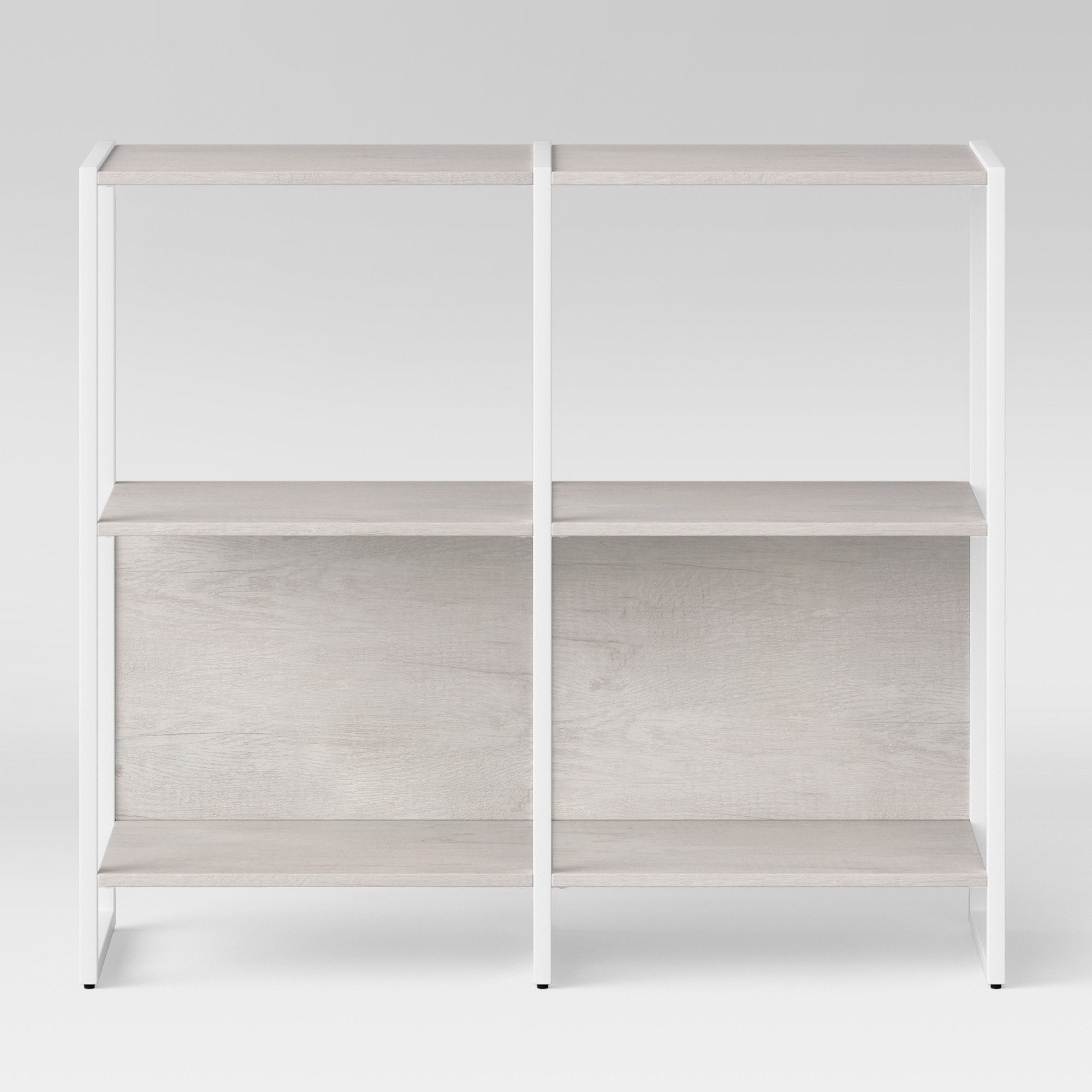 36 Paulo 2 Shelf Bookcase White
