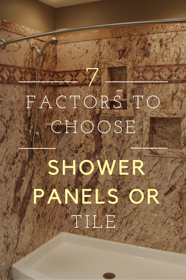 Tiling Panels For Bathrooms Part - 26: Are Shower Wall Panels Cheaper Than Tile? 7 Factors You Need To Consider.