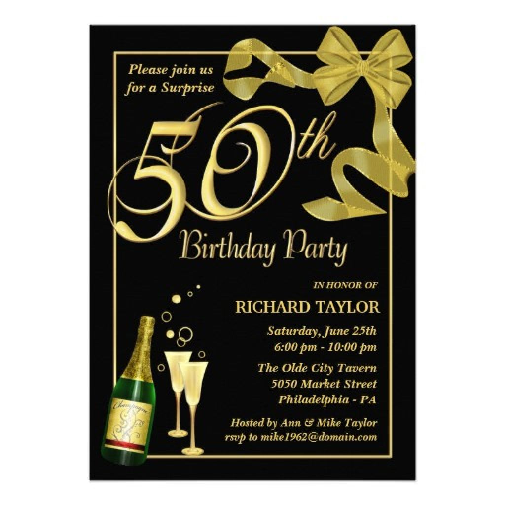 Men 50th Birthday Invitations For Him