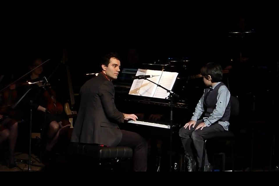 I want a man who will sing with his son.(:
