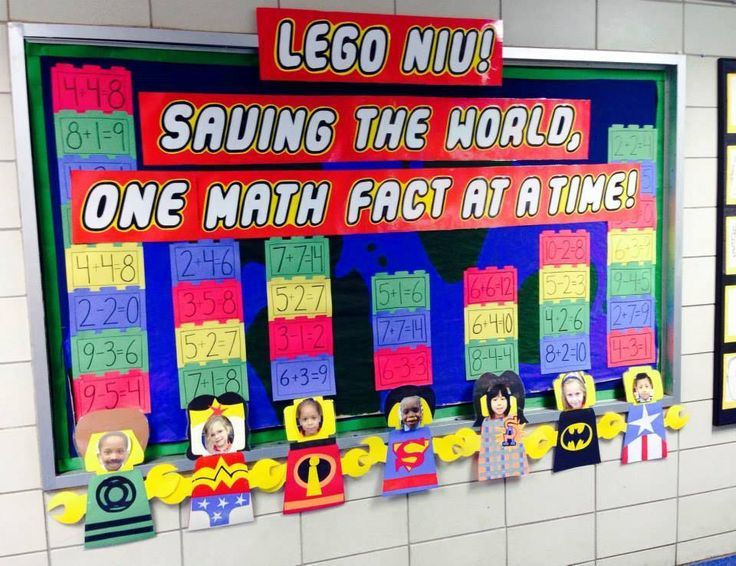 Lego themed math bulletin board idea for the elementary school ...