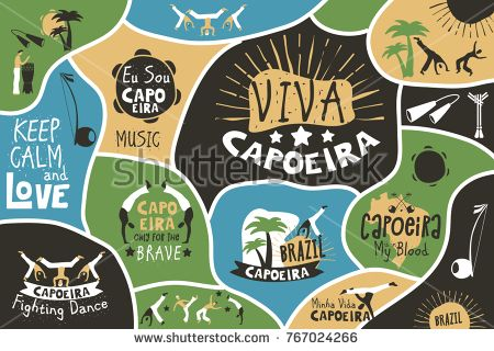 Capoeira Brazil Poster Brazilian Contest Fest Decor Martial Art