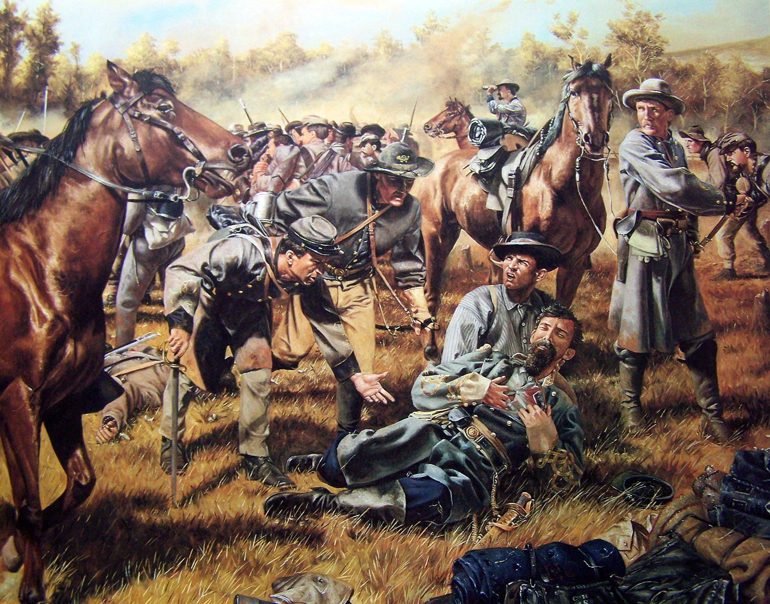 General Samuel Garland Csa Jr Is Mortally Wounded In The