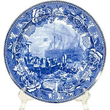 Check out this item at One Kings Lane! Boston Tea Party Cobalt Plate