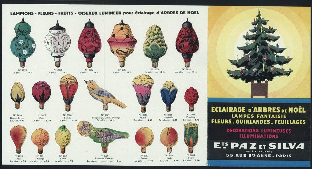 Page from a French trade catalog of Ets. Paz et Silva, Paris, France, unknown date. (bib no. 88844).