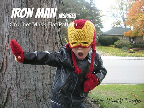 Iron Man Inspired Mask Hat pattern by Emmaline Inspired
