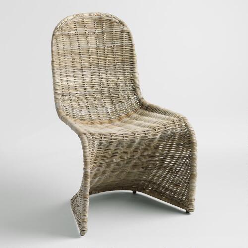 Kubu Rattan Maleya Molded Chair Molded Chair Wicker Dining