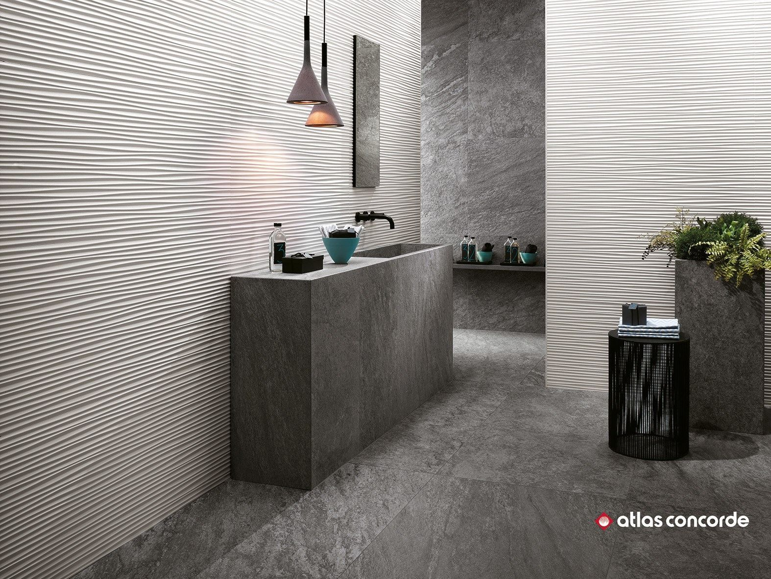 Download The Catalogue And Request Prices Of 3d Wall Design Flows By Atlas Concorde White Paste Wall Cladding Interior Wall Cladding Bathroom Interior Design