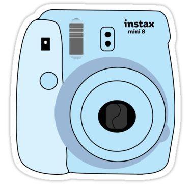 Baby Blue Polaroid Sticker By Karadevol4 Blue Aesthetic Tumblr