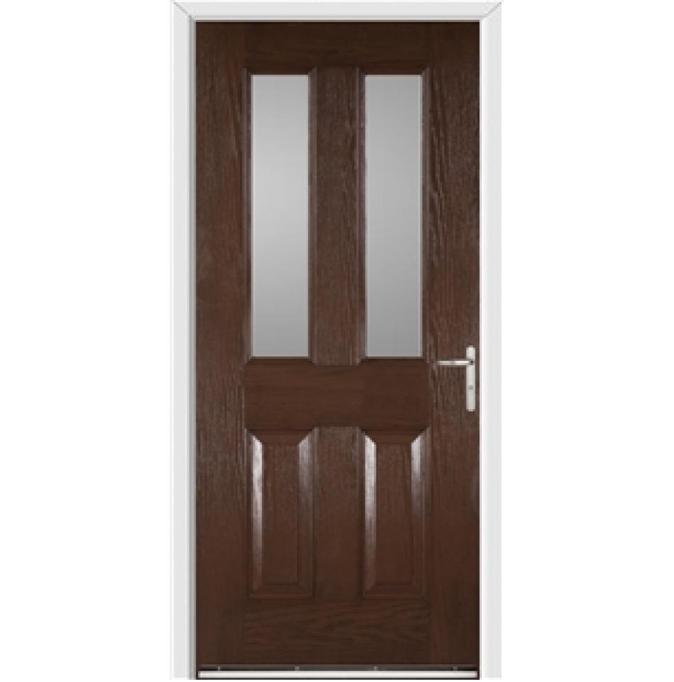 Windsor Redwood External Glazed Fire Door with Frame and ...