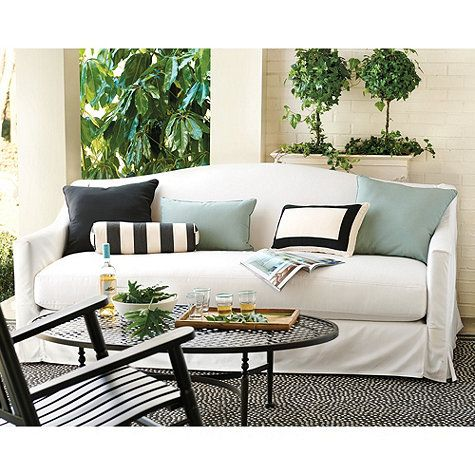 Riviera Indoor Outdoor Sofa Slipcover Made To Order Fabrics 35 1 2 H X 82 W 41 D Seat 20 4 74 26 Arms 24 Feet