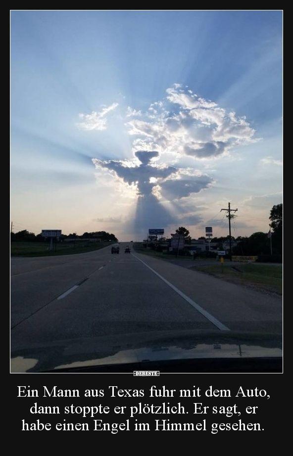 Ein Mann aus Texas fuhr mit dem Auto, dann stoppte er.. | Lustige Bilder, Sprüche, Witze, echt lustig