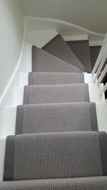 Grey Stair Runner Home Carpet Stairs Staircase Design | Grey Carpet Treads For Stairs | Wool Carpet | Indoor Outdoor | Skid Resistant | Custom Stair | Rugs
