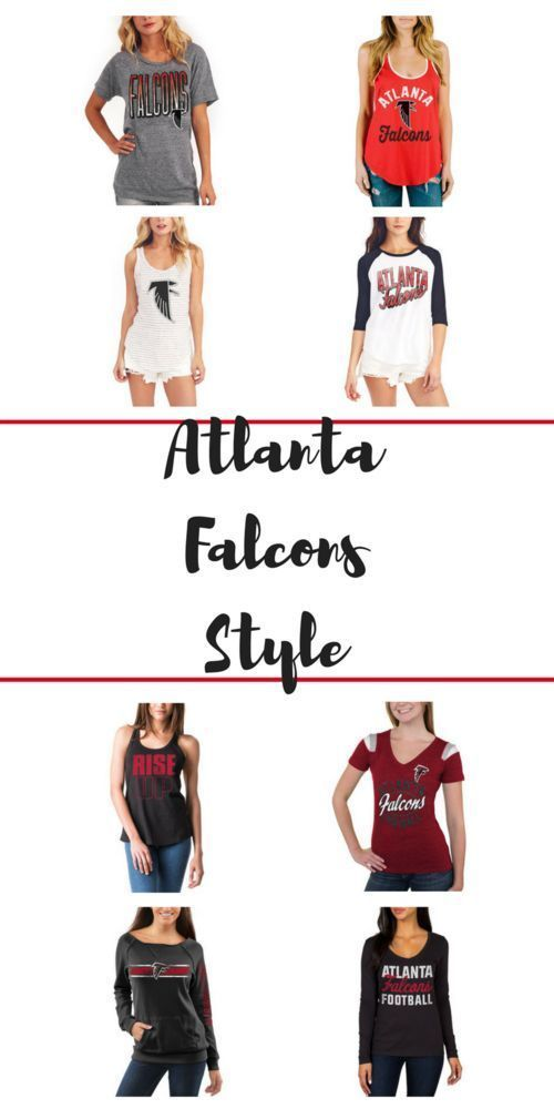 Look cute for NFL football! Here are my favorite fashionable tops for tailgating for the Atlanta Falcons! #NFLFanStyle #CG #Sponsored casualclaire.com