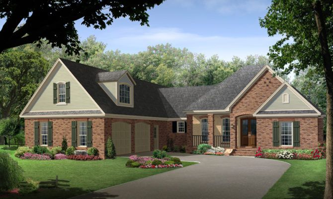 Dormer Over Side Entry Garage Country Style House Plans Craftsman Style House Plans Traditional House Plans