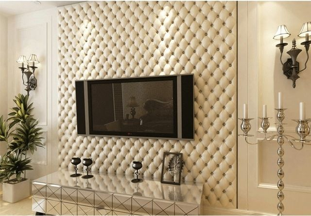 Aliexpress Com Buy 3d Wallpaper Leather Texture Luxury Wall Paper Roll For L Wallpaper Living Room Living Room Wallpaper Texture Bedroom False Ceiling Design