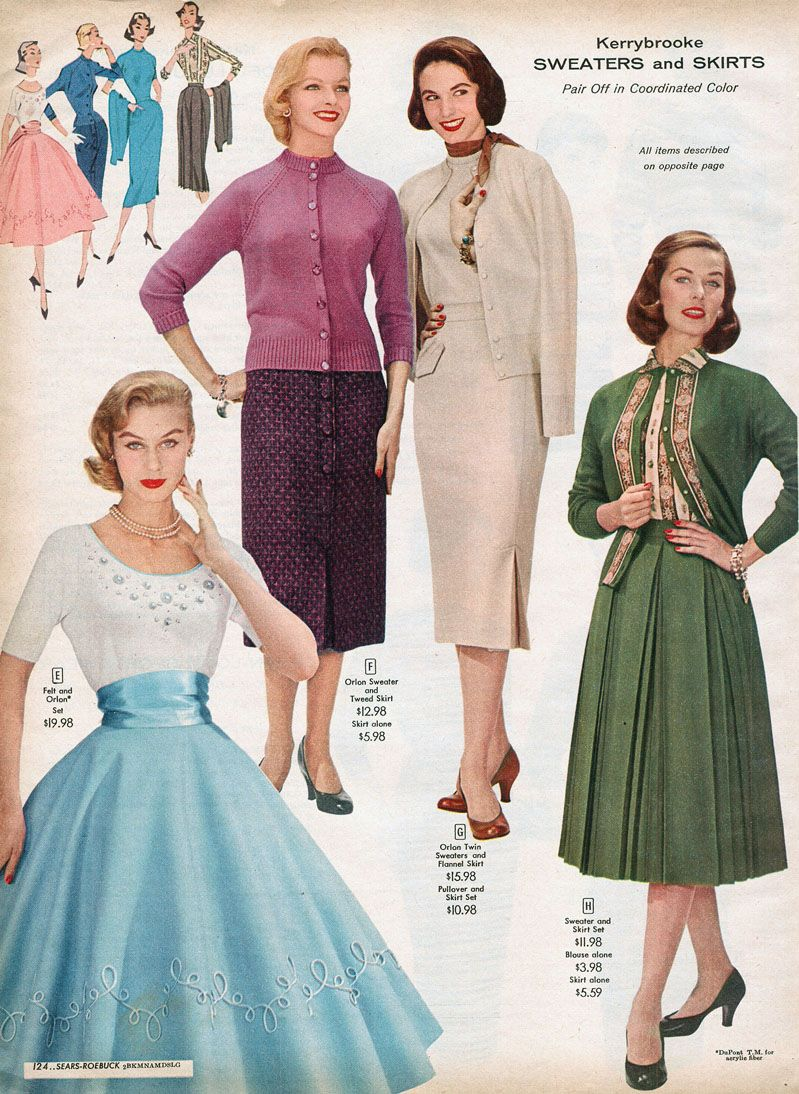 1956 Sears Catalog 19 Pages Of Separates Pants Skirts And
