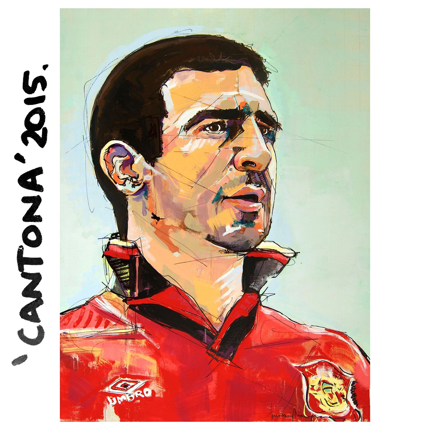 All your football funnys here, ask for admin! Cantona Beatles Painting Portrait Beatles Art