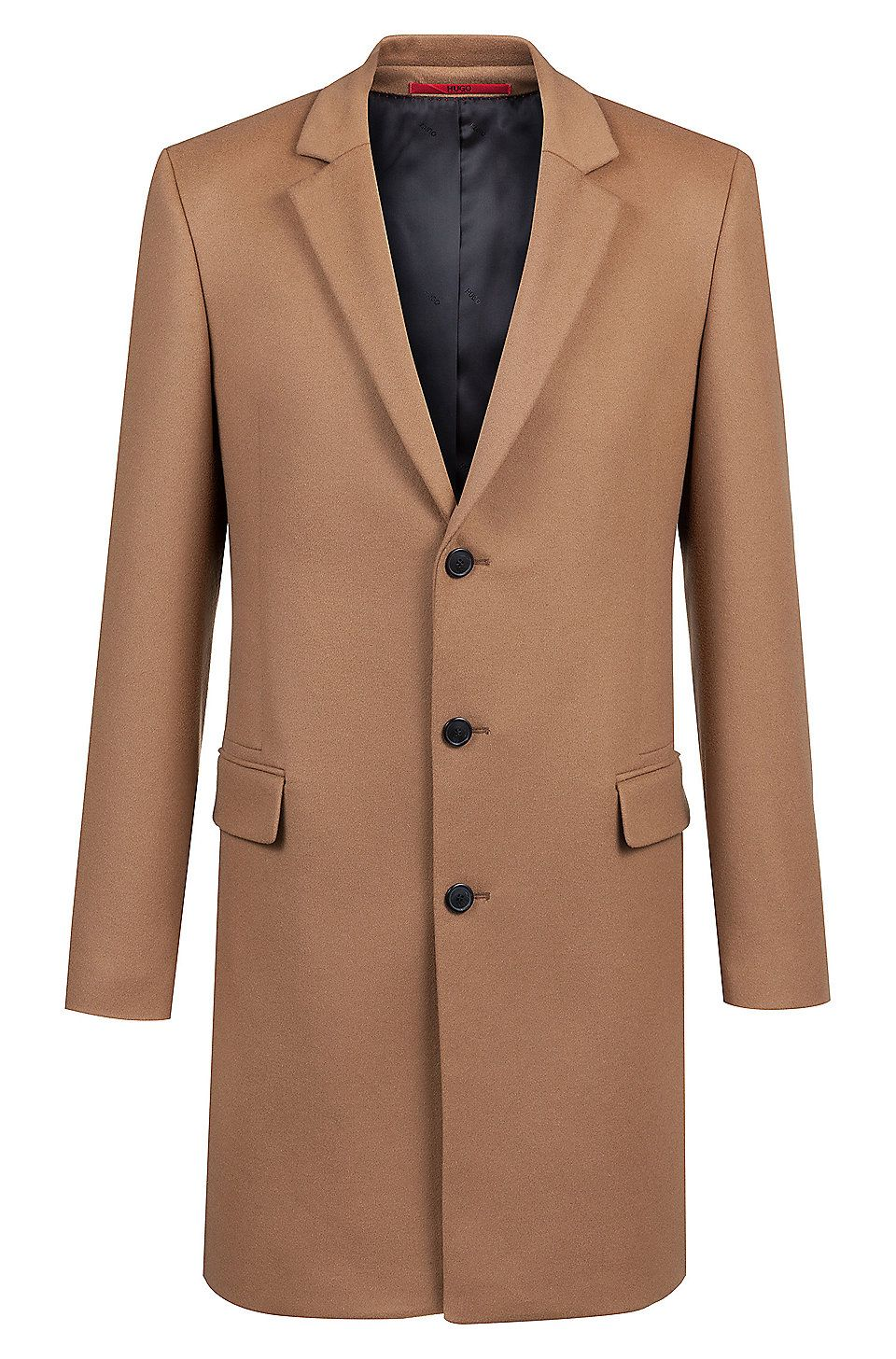 Hugo Boss Extra Slim Fit Jacket In Virgin Wool With Cashmere Brown Casual Coats From Hugo For Men In The Official Hugo Boss Online Store Free Shipping [ 1456 x 960 Pixel ]