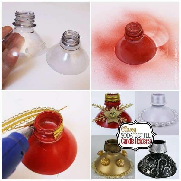 Idee Deco Noel Avec Bouteille Plastique 13 idées de décorations pour noël diy avec des bouteilles en
