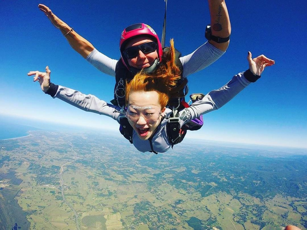 I Left My Life In The Hands Of A Stranger Today Absolutely No Regrets Skydiving Tandemjump Adrenalinejunkie Bucketlist Tandem Jump Australia Gold Coast