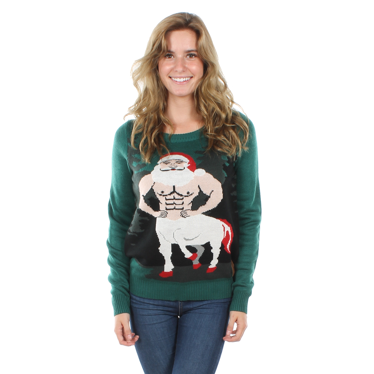 Ugly Christmas Sweater Recon. Option 1: Women\'s Centaur Claus ...