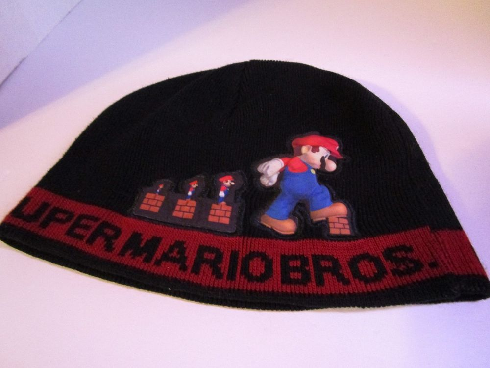 d527a22e8b7 Nintendo Super Mario Bros. Knit Stocking Beanie Hat One Size Fits Most Free  Ship