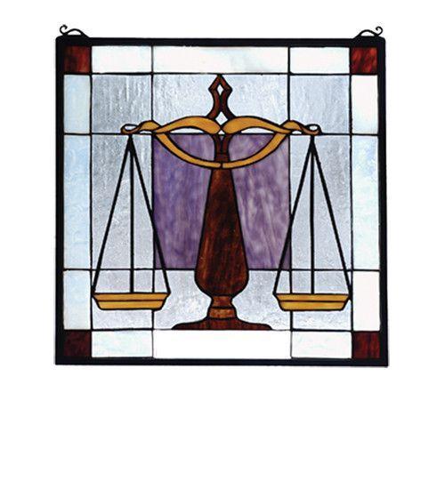 Meyda Tiffany 81551 Judicial Stained Glass Window