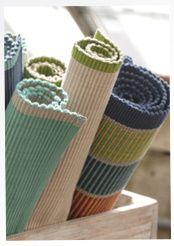 Rips-Tischset aus Öko-Baumwolle
