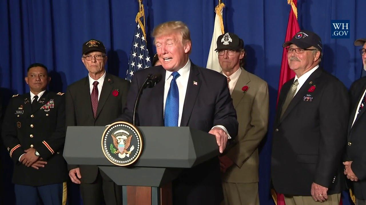 President Trump Participates In A Veterans Meet And Greet 2nd