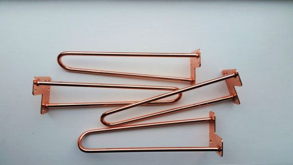 Copper Plated Hairpin Coffee Table Legs 16 By Michigantimbershack