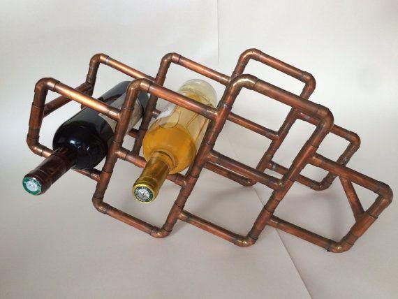 kupferrohr wein rack gesamtpreis in einer reihe von gr en 6 flaschen wein 8 flaschen wein. Black Bedroom Furniture Sets. Home Design Ideas