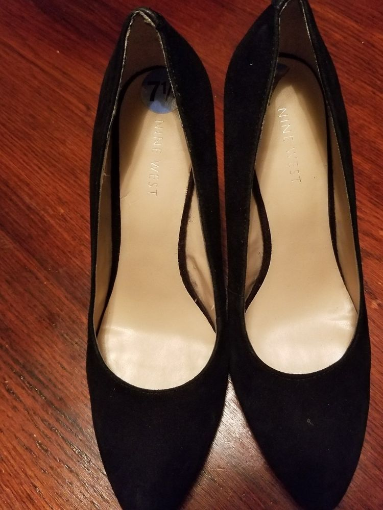 cc77feaa43 NEW Nine West Ispy Womens Black Genuine Leather Wedge Pump Heel Shoes Sz  7.5 #fashion #clothing #shoes #accessories #womensshoes #heels (ebay link)