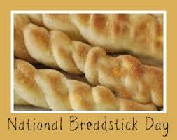 October 31 National Breadstick Day Food Hot Dog Buns Breadsticks