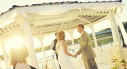 Outdoor Wedding Ceremony Reception Venue Lake Lyndsay Hamilton