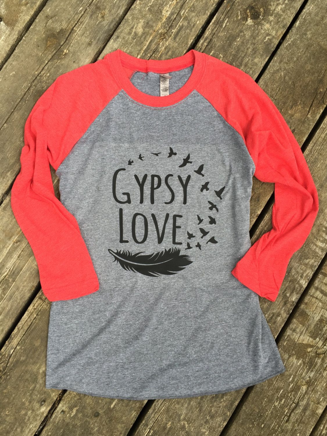 79d27d2986c Gypsy Love Baseball Tee Gypsy Boho Cowgirl Country Music T-Shirt 3 4 ...