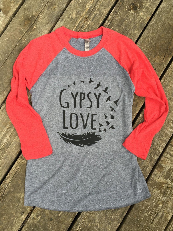 Gypsy Love Baseball Tee Gypsy Boho Cowgirl Country Music T