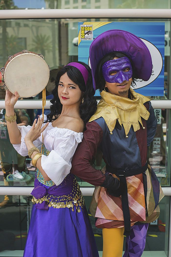10 of the best cosplays from san diego comic con 2017 san diego esmeralda and clopin trouillefou the hunchback of notre dame solutioingenieria Choice Image
