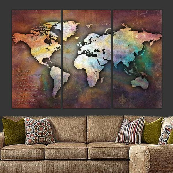 Large canvas world collage map wall art ideas para dibujar para large canvas world collage map wall art gumiabroncs Choice Image