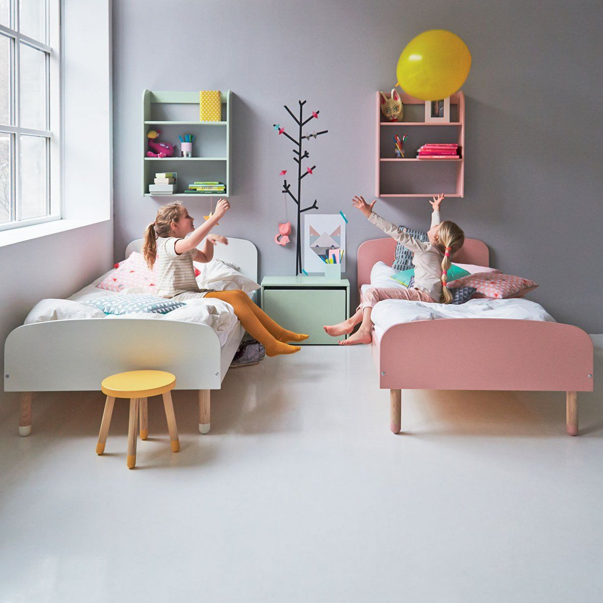 Letti A Castello Woodland.Letto Singolo Play L 204 Cm By Flexa Bambini Letti A Castello Mobili Per Bambini Camerette